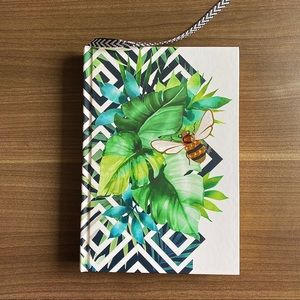Papyrus Leaf and Bee Cover Lined Journal NWT